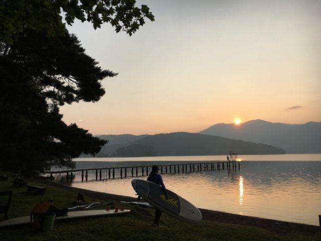 野尻湖 SUP アーリーモーニング